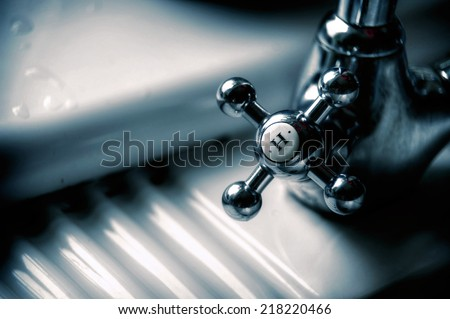 Classic water tap - stock photo