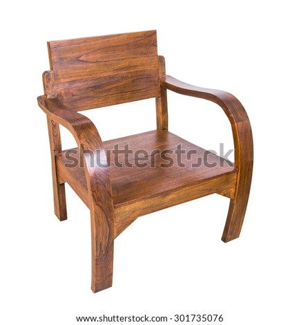 classic Wooden armchair isolate on white background