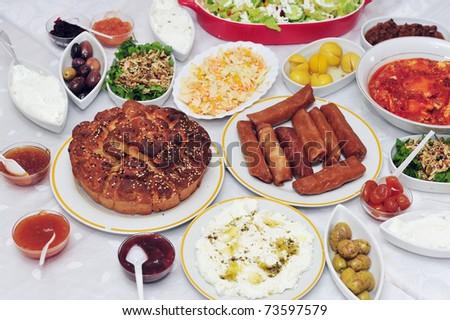 Classic Yemeni Cuisine Jewish Breakfast During Shabbat