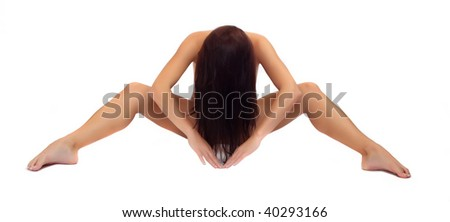 Classical artistic nudity style picture of woman - stock photo