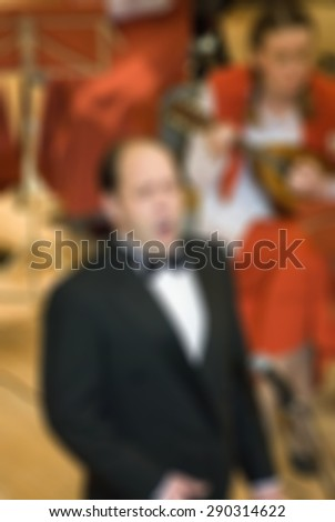 Classical concert blur background with shallow depth of field bokeh effect