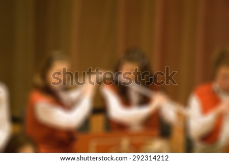 Classical concert blur background with shallow depth of field bokeh effect - stock photo