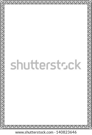 Classical frame isolated on white
