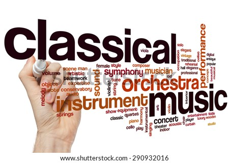 Classical music word cloud concept - stock photo