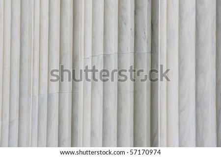 Classical pillars detail - stock photo