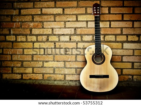 Classical Spanish guitar - stock photo