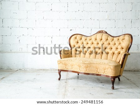 Classical style Armchair sofa couch in vintage room