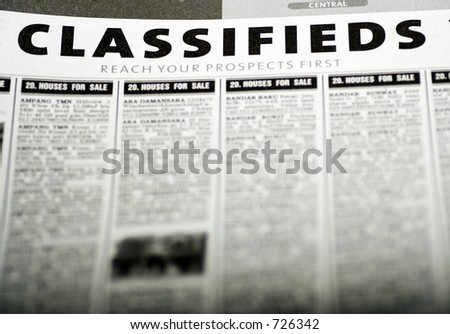 Classified ads newspaper - stock photo