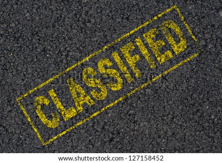 Classified sign background