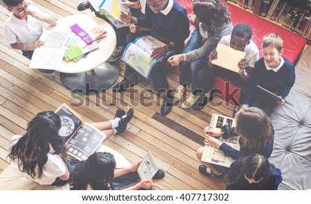 Classmate Educate Friend Knowledge Lesson Concept - stock photo