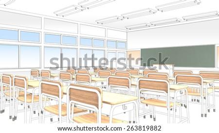 Classroom - stock photo