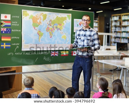 Classroom Learning Geographhy Students Study Concept - stock photo