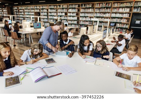 Classroom Learning Mathematics Students Study Concept - stock photo