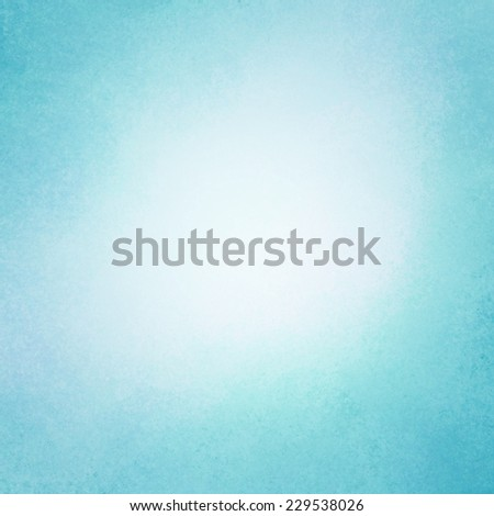 classy light blue background with dark border and white center, old distressed vintage blue background with faded white color and vintage grunge texture - stock photo