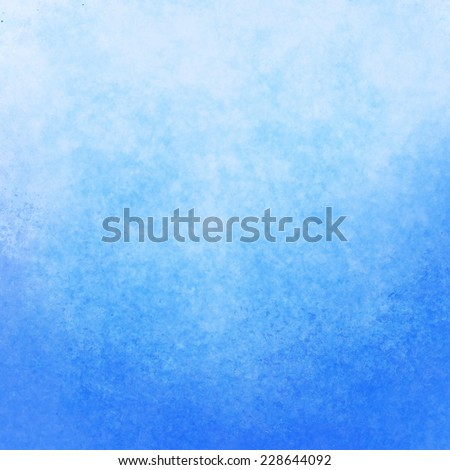 classy light blue background with pastel top border and gradient color to dark bottom border, old distressed vintage blue background with faded white color and vintage grunge texture - stock photo