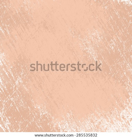 classy light brown background with white top border and gradient color to darker brown bottom border, old distressed vintage brown background with faded white color and vintage grunge texture - stock photo
