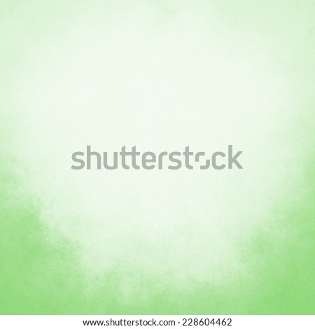 classy light green background with pastel top border and gradient color to dark bottom border, old distressed vintage green background with faded white color and vintage grunge texture - stock photo