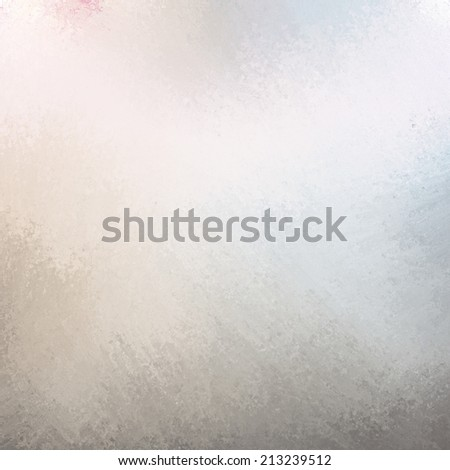 classy white background with pale brown gray blue grunge design border texture and soft lighting - stock photo
