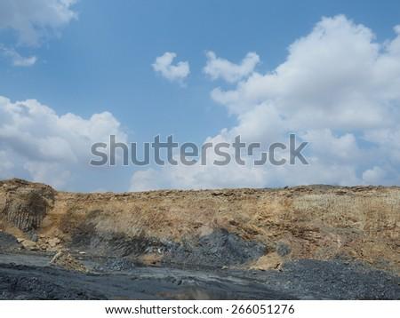Clay mining. - stock photo