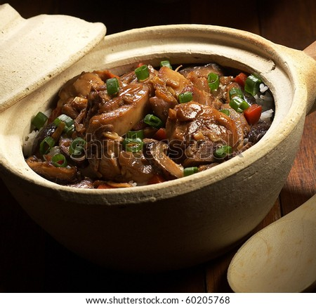 Clay pot chicken rice,clay pot rice,