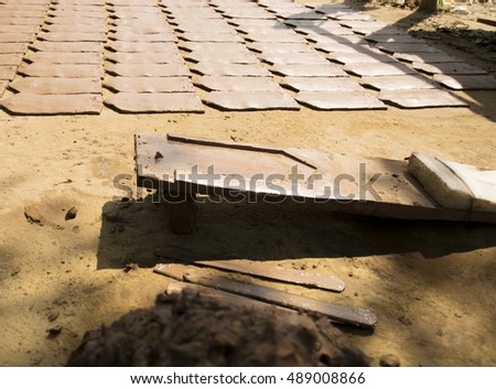 Clay tiles for the roof