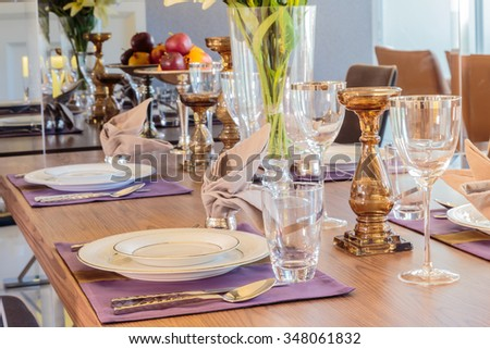 Clean and beautiful tableware - stock photo