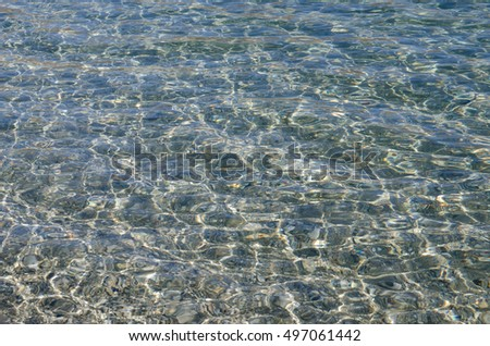 Clean and clear water in Lake Wanaka in New Zealand