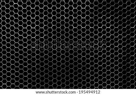 Clean and Shiny Honeycomb Chrome Metallic Grip - stock photo
