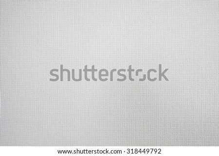 Clean background of white coarse canvas texture with free space and light place for your design project.