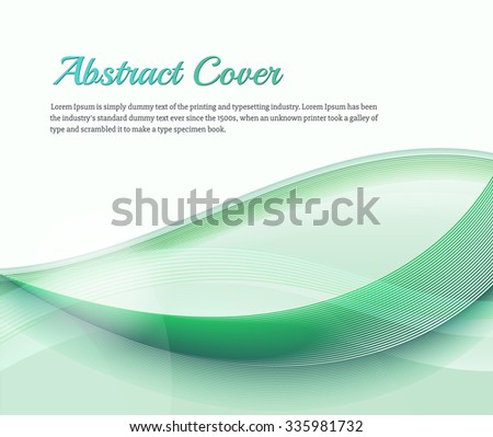 Clean background with light green gradient and blend. Business style or technology clean design. Modern raster backdrop with green gradient and wave. Template cover or page. Nature lines