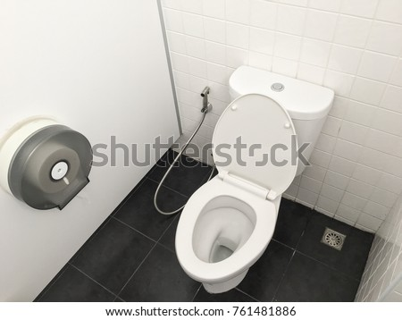 Clean bathroom in office