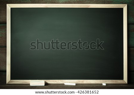 Clean chalk board for background. texture for educational or business background. black board for add text or graphic design. - stock photo