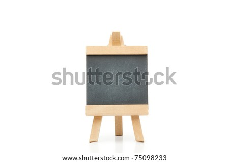 Clean chalkboard on a white background - stock photo