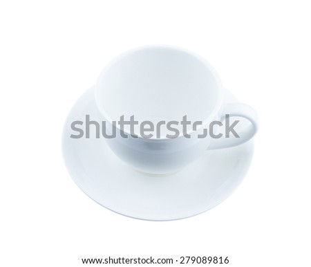 clean coffee cup on white background - stock photo
