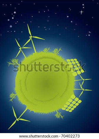 Clean energy concept - stock photo