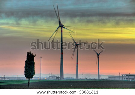 clean energy from renewable sources - stock photo