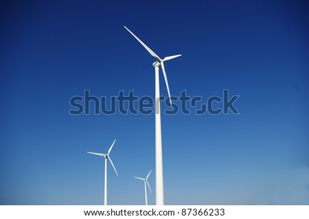 Clean energy generating wind power station.