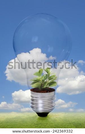 clean energy, green energy - stock photo