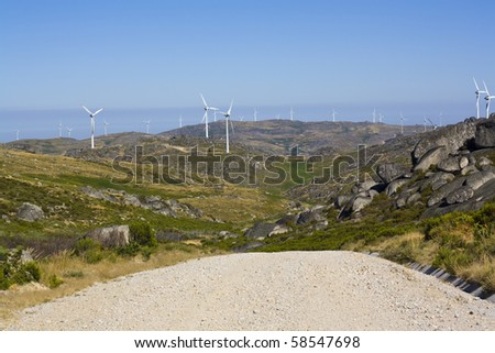 clean energy on a large scale - stock photo