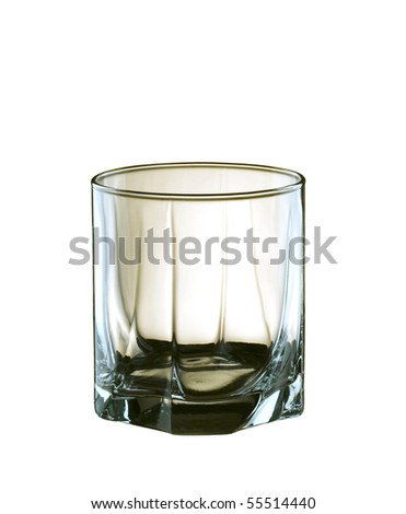 Clean glass, isolated on white background