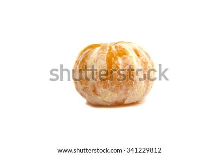 Clean mandarin on white background