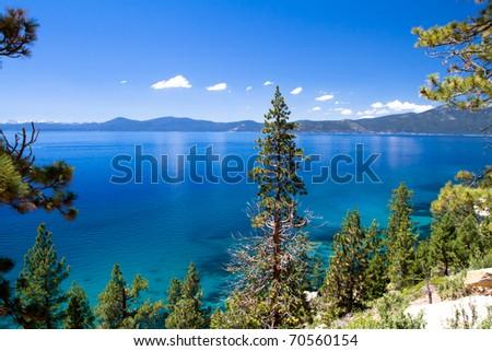 clean waters of Lake Tahoe, USA - stock photo