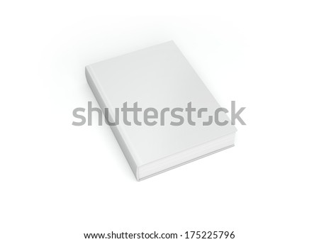 Clean white book isolated on a white back ground. - stock photo