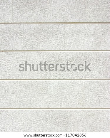 Clean white brick wall or plaster, texture or background - stock photo