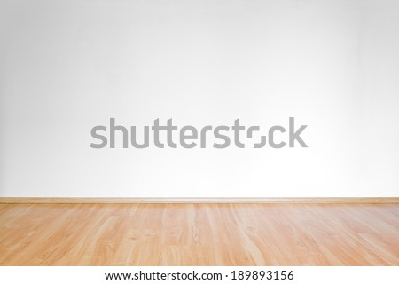 clean white room interior with wooden floor