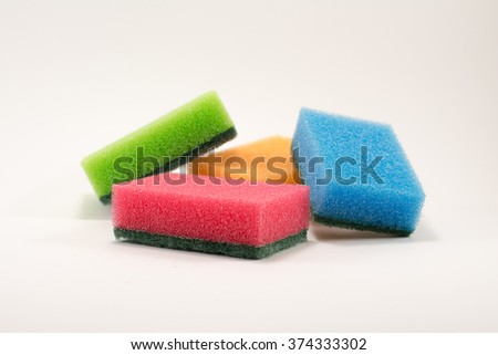 cleaners, detergents, household cleaning sponge
