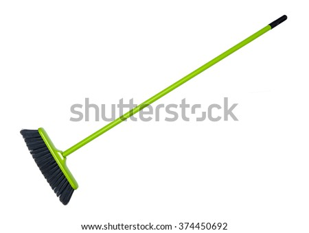 Cleaning broom - stock photo