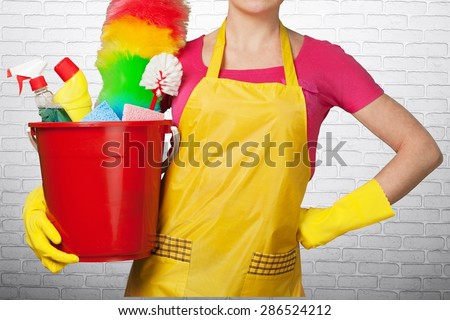 Cleaning, Cleaner, Maid. - stock photo