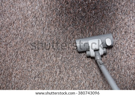 Cleaning dirty carpet at home - stock photo