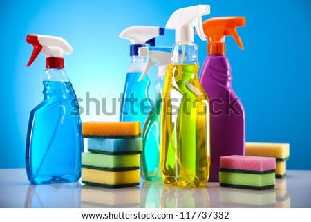 Cleaning products - stock photo